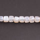 1  Long Strand White Silverite Faceted Briolettes  -Cube Shape Briolettes  7mm  8 Inches BR2779 - Tucson Beads
