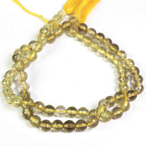 1  Strand Lemon Quartz Faceted Rondelles -Lemon Quartz  Rondelle Beads 7mm-10 Inches BR2005 - Tucson Beads