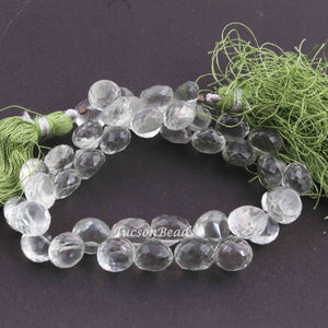 1 Strand Green Amethyst  Faceted  Briolettes -Onion Shape  Briolettes  7mmx8mm-9mmx8mm  8 Inches BR2719 - Tucson Beads
