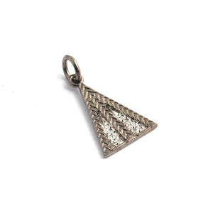 1 Pc Pave Diamond Trillion Charm 925 Sterling Silver Single Bail Pendant - Trillion Charm Pendant 21mm13mm PDC1356 - Tucson Beads