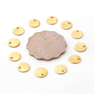 25 Pcs Designer 24k Gold Plated Copper Stamping Blanks,Round Charm Brush Copper Discs Great For Earrings,Jewelry Making BulkLot 8mm gpc1205 - Tucson Beads