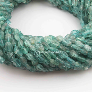 1 Strand Apatite Smooth Oval Briolettes - Apatite Oval Shape 5mmx4mm-9mmx5mm 12.5 Inches BR3333 - Tucson Beads