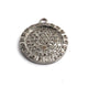 1 Pc Natural Pave Diamond Round Charm Over 925 Sterling Silver Pendant - 25mmX21mm PDC1355 - Tucson Beads