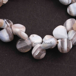 1 Strand Bolder Opal Smooth Heart Shape Beads Briolettes 9mm-10mm 8 Inches BR3507 - Tucson Beads
