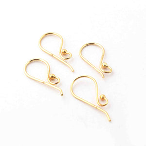 10 Pair Gold Plated Copper Hoop Earrings Charms, Hoop earrings, For Earring Making, 22mmx9mm, GPC1067 - Tucson Beads