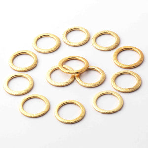 10 PCS Round Charm With Big Hole - Round Charm With Big Hole in 24k Gold Plated 15mm - GPC1048