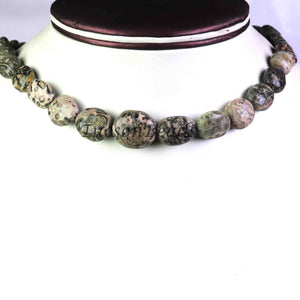 Jasper Stone Beaded Necklace - 12mmx10mm-17mmx15mm Oval Beads, 16 Inch, BR1091 - Tucson Beads