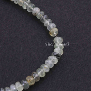 1  Strand Prehnite Faceted Roundelles  -Round Shape  Roundelles 6mmx4mm-14 Inches BR2354 - Tucson Beads