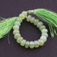 1 Strand Prehnite Silver Coated Faceted Rondelles - Praynite Rondelle Beads 6 Inches 9mmx6mm BR2323 - Tucson Beads