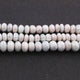 1 Strand Light Green Silverite Faceted Rondelles  - Gemstone Rondelles 7mmx5mm-9mmx4mm 7.5 Inches BR2327 - Tucson Beads
