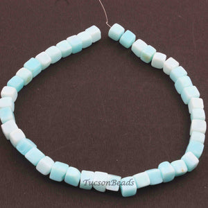 1 Strand Peru Opal Smooth Cube Briolettes - Box Shape Beads 8mmx7mm 12 Inches BR2313 - Tucson Beads