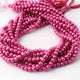 1 Long  Strand  Pink Glass Pearl Smooth Round Ball Beads, Pearl Rondelles  - 6mm 16 Inches BR3841 - Tucson Beads