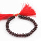 1 Strand Garnet Faceted Rondelles - Garnet Round Beads 5mm-7mm 7 Inches BR2414 - Tucson Beads