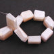 1 Long Strand Peach Moonstone Silver Coated Faceted Nuggets Beads  - 14mmx10mm-18mmx10mm 5.5 Inches BR2304 - Tucson Beads