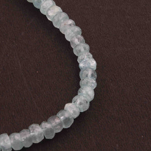 1 Strand Aquamarine  Faceted Rondelles Beads  13mmx5mm -8.5 Inches BR2280 - Tucson Beads