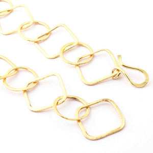 1 Necklace Top Quality 3 Feet Each 24K Gold Plated Copper Link Chain - Round Chain with  square Each  27mmx23mm 26 inches GPC1049 - Tucson Beads