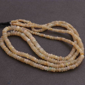 1 Long Strand Ethiopian Opal Smooth Roundels - Ethiopian Roundels Beads 3mm-6mm 16 Inches long BRU117 - Tucson Beads