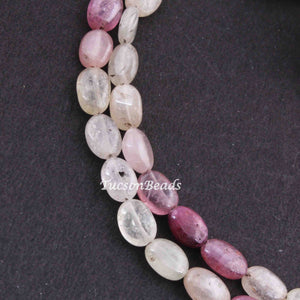 1 Strand Multi Sapphire   Smooth Briolettes  -Oval Shape Briolettes  7mmx6mm -8 Inches BR4201 - Tucson Beads