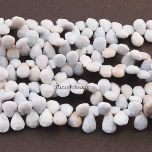 1  Strand  Bolder Opal Faceted Briolettes -Pear Drop Shape  Briolettes  12mmx8mm-10mmx8mm- 8 Inches BR4254 - Tucson Beads