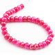 1 Long Strand Pink Chalcedony Silver Coated Faceted Rondelles - Pink Chalcedony Roundel Beads 9mm-8mm -12.5  Inches BR4275 - Tucson Beads