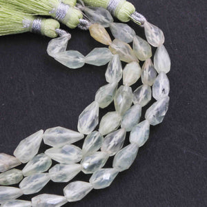 1 Strand Prenite Faceted Tear Shape Briolettes- Prenite Tear Beads 6mmx6mm-11mmx6mm 6.5inches BR1552 - Tucson Beads