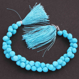 1 Strand Turquoise Stablized Faceted Tear Drop Briolettes - Turquoise Tear Drop 8mmx6mm-10mmx7mm 8.5 Inches BR3402 - Tucson Beads