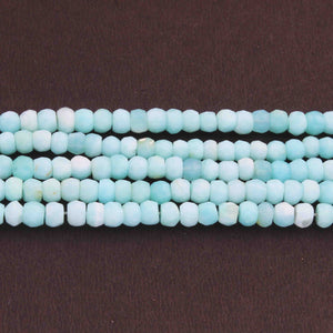 1 Strand Peru Opal Faceted Rondelles - Roundel Beads 5mm-6mm 13 Inches BR3461 - Tucson Beads