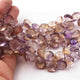 1 Strands Ametrine Faceted Heart Shape Briolettes - Ametrine  Briolettes . 10mmx13mm 7.5 inches BR576 - Tucson Beads