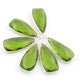 6 Pcs Peridot Faceted Dagger Shape 925 Silver Plated Pendant 31mmx13mm  PC227 - Tucson Beads