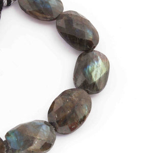 1 Strand Labradorite Faceted Oval Briolettes - Oval Briolettes 9 Inches 18mmx14mm-22mmx16mm BR1094 - Tucson Beads