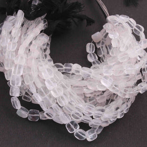 1 Strand Crystal Quartz Briolette - Faceted Chicklet  Shape 6mm-9mm 8 Inch BR3903 - Tucson Beads