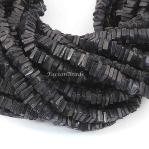 1 Long  Strand Iolite Heshi Smooth Briolettes  -Square Shape  Briolettes  5mm-7mm- 15 Inches BR4081 - Tucson Beads