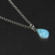 1 Pc Genuine and Rare Larimar Pear Pendant - 925 Sterling Silver - Gemstone Pendant  SJ021 - Tucson Beads