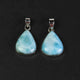 1 Pc Genuine and Rare Larimar Pear Pendant - 925 Sterling Silver - Gemstone Pendant  SJ026 - Tucson Beads