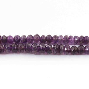 1 Strand Amethyst Beads,Rondelle Beads,Faceted Beads,Round Beads,7mm 9 Inches BR4066 - Tucson Beads
