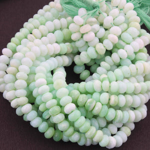 1 Strand Finest Quality  Peru Opal Faceted Rondelles - Peru Opal Roundelle Beads 4mm-5mm 8 Inches BR044 - Tucson Beads
