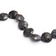 1 Strand Natural Snowflake Obsidian Gemstone Coin Briolette ,Faceted Briolette -12mm 8 Inches BR2170 - Tucson Beads