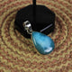 1 Pc Genuine and Rare Larimar Pear Pendant - 925 Sterling Silver - Gemstone Pendant  SJ087 - Tucson Beads