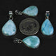 1 Pc Genuine and Rare Larimar Pear Pendant - 925 Sterling Silver - Gemstone Pendant  SJ091 - Tucson Beads