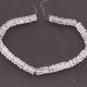 1  Strand Crystal Quartz Faceted   Briolettes -Whell   Briolettes  7mm-8mm-9.5 Inches BR1953 - Tucson Beads