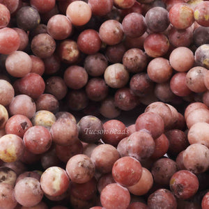1 Strand Rhodocrosite , Best Quality ,AAA Quality , Smooth Round Balls - Smooth Balls Beads - 8mm 15 Inches BR0046 - Tucson Beads