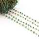 1 Feet Green Onyx Smooth  Rosary Style 925 Sterling Vermeil Beaded Chain- 2mm-5mm-  Vermeil wire Chain SRC013 - Tucson Beads