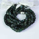 1 Strand Shaded green rutile faceted Rondelles  -Rondelles  Beads 8mm 8 Inches BR1648 - Tucson Beads