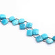 1 Feet Turquoise Kite Shape Rosary Style Oxidized Silver plated Beaded Chain- 12mmx10mm-15mmx10mm SC306 - Tucson Beads