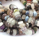 1 Strand Multi Stone Rondelles , Smooth Beads - Multi Stone 10mmx5mm 10.5 Inches BR1015 - Tucson Beads