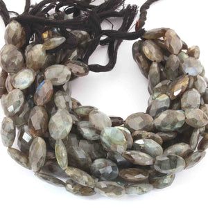 1  Strand Labradorite Faceted Oval shape  Briolettes  - Faceted Briolettes 17mmx13mm-26mmx18mm 10.5  Inches long BR1329 - Tucson Beads