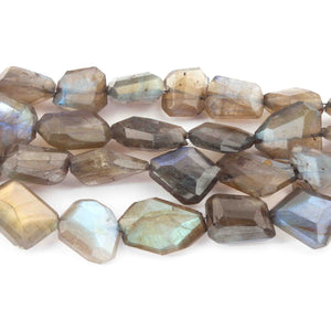 1 Strand Labradorite Faceted Nuggets Briolettes - Labradorite 12mmx12mm-32mmx11mm 10 Inches BR3412 - Tucson Beads