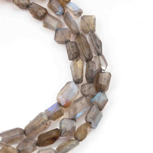 1 Strand Labradorite Faceted Nuggets Briolettes - Labradorite 7mmx8mm-23mmx9mm 10 Inches BR1545 - Tucson Beads