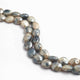 2 Strand Shaded Grey Silverite Faceted Briolettes - Oval Shape Beads 9mmx8mm-10mmx8mm 15 Inches BR709 - Tucson Beads