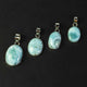 1 Pc Genuine and Rare Larimar Pear Pendant - 925 Sterling Silver - Gemstone Pendant  SJ070 - Tucson Beads